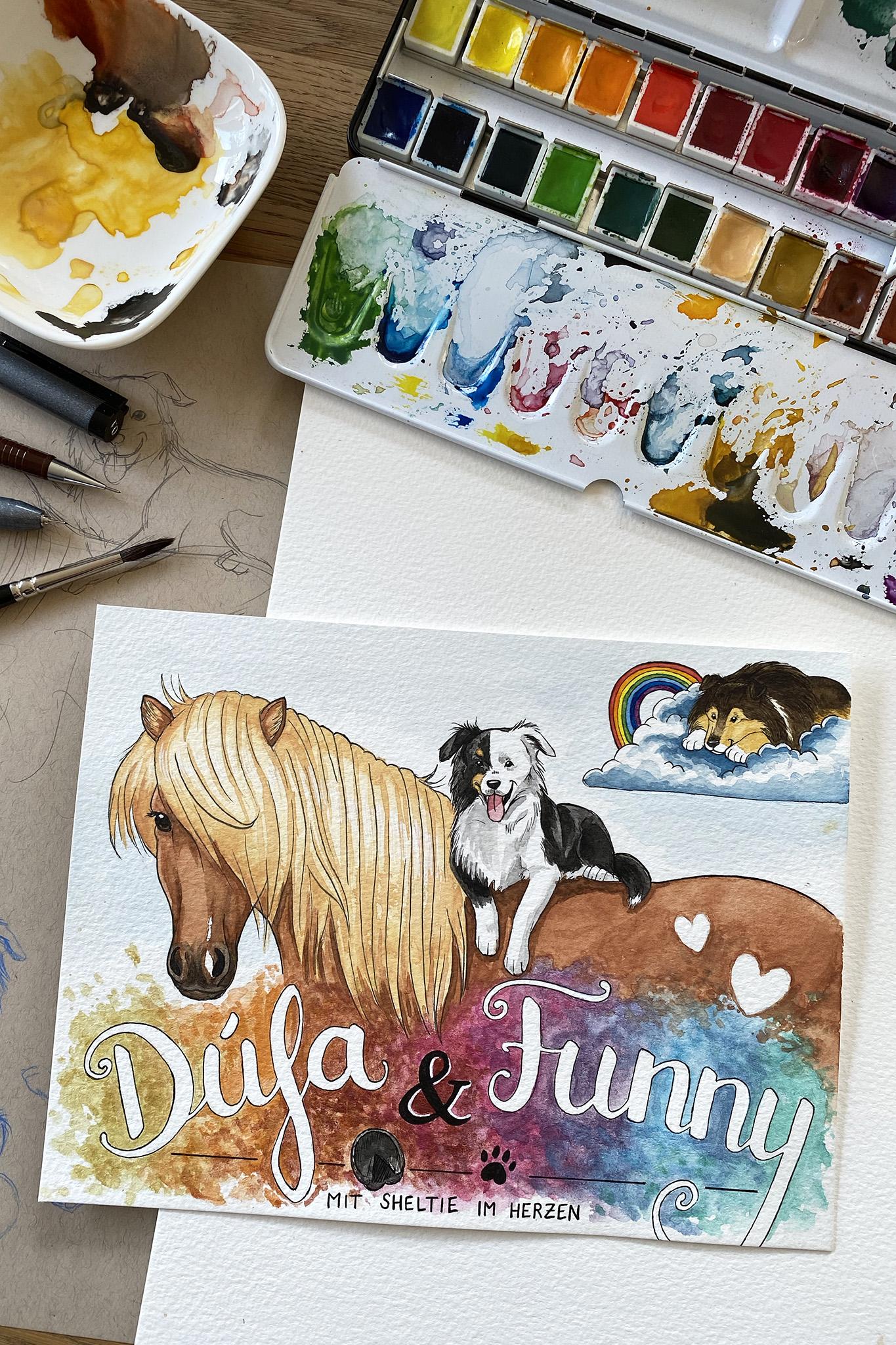Dúfa, Funny & Sheltie