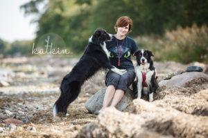 Kathi mit Hunden